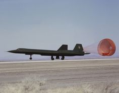 SR-71 Landing with Drag Chute