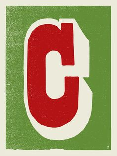 LETTER C SCREEN PRINT « Limited Edition Art Posters « Methane Studios