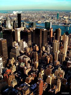 View from Empire State Building, NYC.