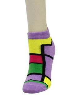 3 Pairs Assorted Mondrian Esque Cubes Low Cut Socks (Size 9-11) Yelete. $6.99. In Lot of 3 pairs sizes 9-11. Imported. Retails at 20.00 pack of 3 pairs. Made from 95% polyester & 5% spandex. In geometric pattern in a variety of color combinations