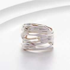 Gorgeous organic sterling silver ring