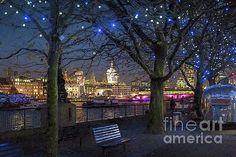 Philip Preston - London Skyline At Night, Featuring St Pauls Cathedral, London, England UK