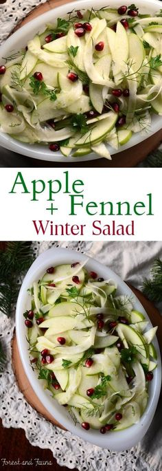 This apple fennel winter salad is a refreshing dish to add to the ...