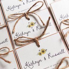 Rustic Sunflower wedding invitation £2.20