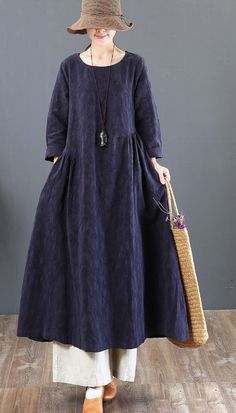 2018 navy linen dresses casual jacquard fall dresses vintage tunic big hem caftans 11 best casual comfort outfit image summer in 2019 letmebeauty net outfits outfitoftheday outfitinspiration summeroutfits summerfashion 60 Fashion, Muslim Fashion, Women's Fashion Dresses, Casual Summer Dresses, Fall Dresses, Simple Dresses, Casual Outfits, Big Size Dress, Plus Size Maxi Dresses