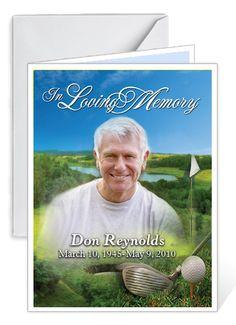 Custom Cover Funeral Memorial Card Templates