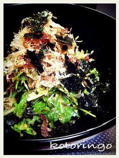簡単で美味しい水菜のサラダ 水菜が98円だったから、ウキウキしちゃった - 339件のもぐもぐ - 水菜の和風サラダ by kotoringo9625