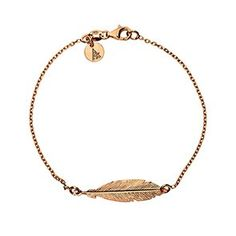A detailed rose gold vermeil sterling silver feather is displayed on a delicate belcher chain to create this pretty bracelet. Matching necklace and earrings are available.This bracelet measures as in length. The feather is in length and wide. Sterling Silver Bracelets, Silver Jewelry, Gold Necklace, Jewlery, Feather Jewelry, Feather Earrings, Latest Jewellery Trends, Jewelry Trends, Festival Accessories