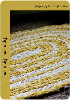 Make a super-cute rag rug out of 1.5 inch strips of old sheets, curtains, etc. No-fear videos show you exactly how to crochet it.
