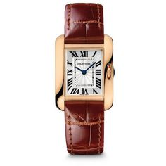 Cartier Tank Anglaise Small 18K Pink Gold Bracelet Watch ($23,500) ❤ liked on Polyvore featuring jewelry, watches, accessories, pink, watch bracelet, rose gold watch bracelet, 18k watches, leather-strap watches and pink gold watches