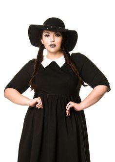 Domino Dollhouse - Plus Size Clothing: Studded Floppy Hat