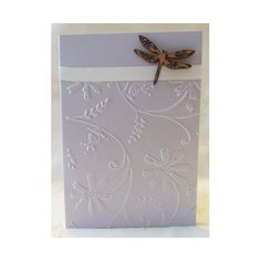 Wooden Dragonfly Card