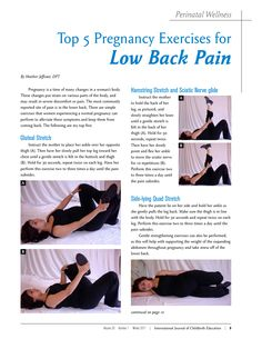 Pregnancy Lower back pain and lordosis are among the most common complications during pregnancy; stretching, and strengthening exercises for 21 minutes, then relaxa-tion for 4. Description from backstrengtheningexercisesva.blogspot.com. I searched for this on bing.com/images