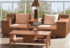 Decorative Choices & Styles of Wicker Lamps – Wicker Decor Indoor Wicker Furniture, Outdoor Furniture Sets, Sectional Furniture, Living Room Furniture, Ralph Lauren, Home Decor, Modern, Diy, House