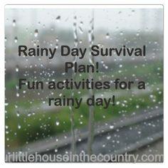 @ourlittlehouseinthecountry.com Fun activities for a rainy day. We'll be trying the obstacle course. www.amominneedofadvice.blogspot.com #rainyday #kidsactivities
