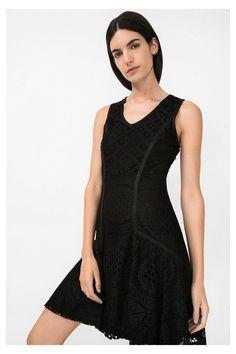 Vestido preto com renda   Desigual.com 2000