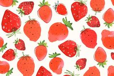 Margaret Berg : summer / fruit fun: Mad Strawberries Pattern