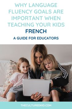 So you want to teach your kids the French language at preschool but you don't know the best way to get started. I'd love to walk you through some tips on creating goals for your child's language learning journey to help set you and your kids up for success! #french #bilingual #homeschool #lesson Learning Spanish For Kids, Learning A Second Language, Learning Through Play, Speech And Language, Kids Learning, Teaching French, Teaching Spanish, Bilingual Education, Language Development