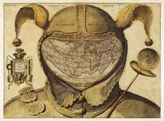 'Fool's Cap Map of the World' (1580–1590), by unknown artist, 'The number of fools is infinite.' Cosmigraphics: Picturing Space Through Time in 4,000 Years of Mapping the Universe – Brain Pickings