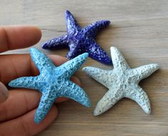 Small Two Inch Blue Ceramic Starfish Set The Three Ceramic Starfish Set is part of my newest Beach line of products designed to complement