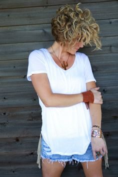 THE SLOUCH TEE-BASIC WHITE - Junk GYpSy co.