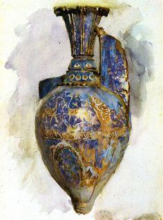 dappledwithshadow John Singer Sargent (American, 1856-1925), The Alhambra Vase, c.1879. Watercolour on paper, 34.3 x 25.3cm. Walters Art Museum, Baltimore.