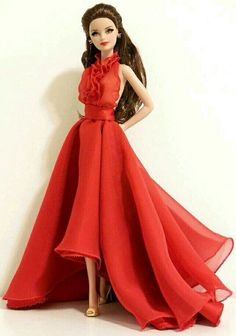 BArbie Doll in Red gown