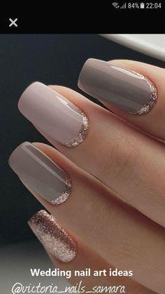 Pink and taupe and rose gold nails rose gold glitter nails, gold gel nails, Gold Glitter Nails, Rose Gold Nails, Blue Nails, Nails 24, Glitter Art, Gold Sparkle, Rose Gold Gel Polish, Purple Nail, Pink Polish
