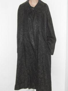 Vintage 50's Black Brocade Women's SWING COAT by TheNerdGirlfriend, $92.50