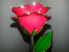 24k Gold Trimmed Real Roses in Blue or Red.