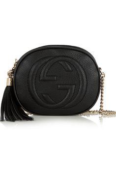 Gucci|Soho Schultertasche aus strukturiertem Leder|NET-A-PORTER.COM