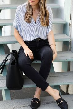10 sneaker work looks - Work Outfits Women Smart Casual Outfit, Professional Outfits, Casual Winter Outfits, Work Casual, Comfy Casual, Smart Casual Women Summer, Casual Chic, Summer Office Outfits, Casual Dresses