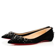 07f9ea0ad31 Candiflat Flat - Red Bottom Christian Louboutin Shoes Black Flats Shoes