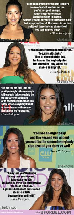 Gina Rodriguez is SUCH AN INSPIRATION. I can and I will!