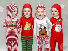 Christmas Sleepsuit for Toddler  Found in TSR Category 'Sims 4 Toddler Female'