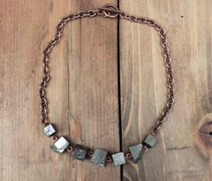 Chunky Pyrite Necklace Uncovet ($52.00) - Svpply