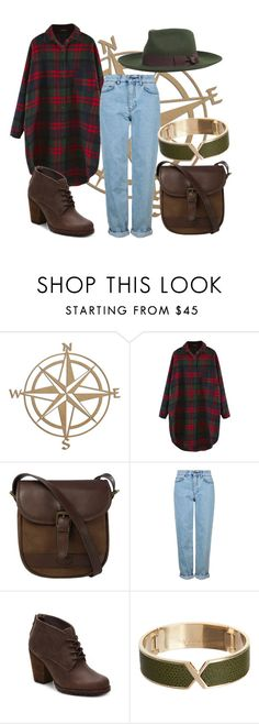 """""""plaid.tour"""" by boldag ❤ liked on Polyvore featuring DUBARRY, Topshop, Eastland, Valextra and Brixton"""