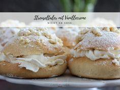 So lecker und so einfach - Gefüllte Streuseltaler mit Vanillecreme sind ganz schnell gemacht und einfach nur köstlich. Wir lieben diese zuckerarme Variante.