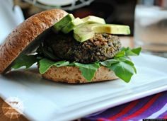 Black Bean and Barley Burger by Angry Asian Creations (substitute hulled barley for pearled barley for more nutrition) Vegetarian Sandwich Recipes, Vegan Recipes, Barley Recipes, Lunch Recipes, Drink Recipes, Healthy Cooking, Healthy Eating, Cooking Corn, Healthy Foods