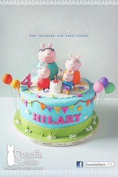 https://flic.kr/p/ok6yec | peppa pig cake | http:www.facebook.com/sweetieneko