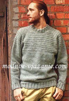 Мужской свитер (вязание крючком)
