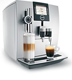 This may be the sexiest espresso machine I have ever seen... IMPRESSA J9 One Touch TFT brilliant silver