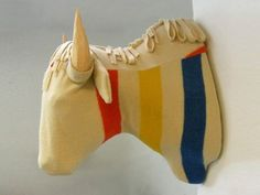 Creative use of Hudson Bay stripes - love this! #Taxidermy