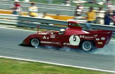 itsawheelthing:  sports car week … on the limitBrian Redman (& Arturo Merzario), Autodelta Alfa Romeo T33/TT/12, 1974, ADAC 1000km Rennen, Nürburgring