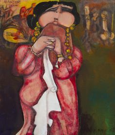 Georges Bahgory: Singing from Heaven II | Oil on Canvas | 100 x 120 cm | 2011