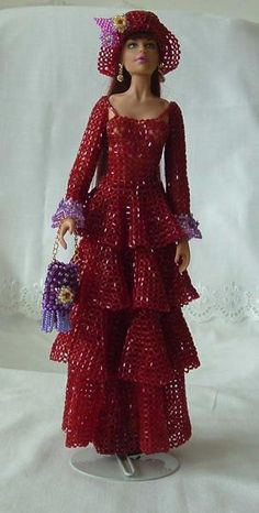 Barbie in beads