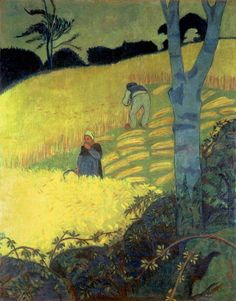+ Plateia.co #ValoramoslaExcelencia #PlateiaColombia #arte #art #artista #artista #Pintura #Painting. Harvest Scene by Paul Serusier