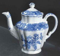 Spode CAMILLA BLUE (EARTHENWARE) Coffee Pot 676219 #Spode