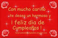con mucho cariño te deseo un hermoso y dfeliz cumpleaños