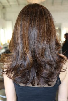 Long layers, beachy waves. Cut and style by Anh Co Tran.